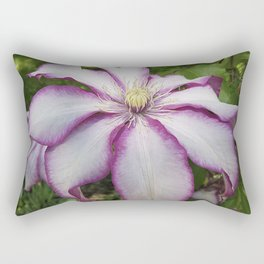 Clematis - Stunning two-tone flowers Rectangular Pillow