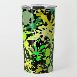Green Ink Blots and Stains Travel Mug