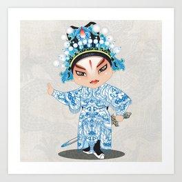 Beijing Opera Character ShiXu Art Print