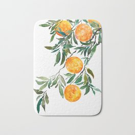 orange watercolor Bath Mat
