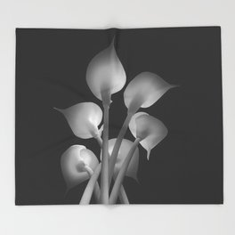 Lilies Throw Blanket