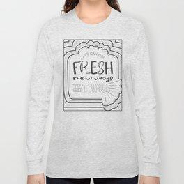 Fresh New Ways – Grey Long Sleeve T-shirt