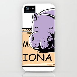 Feeling Hip Preemie Baby Hippo Fiona Team Fiona  iPhone Case