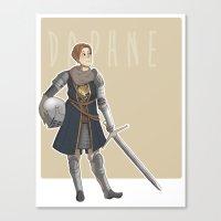 dark souls Canvas Prints featuring Dark Souls- Daphne by mio-mio