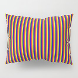Rainbow pattern lighter colors thinner stripes Pillow Sham