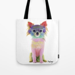 Colorful Chihuahua Tote Bag