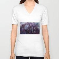 artsy V-neck T-shirts featuring artsy tree by Stephanie Koehl
