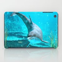 dolphin iPad Cases featuring Dolphin by Simone Gatterwe