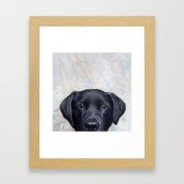 Lablador Dog illustration original painting print Framed Art Print