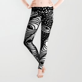 Darting Glances and Hooked Stares Leggings