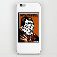 camus iPhone & iPod Skins featuring ALBERT CAMUS QUOTATION by Lestaret