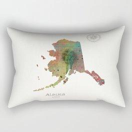 Alaska state map Rectangular Pillow