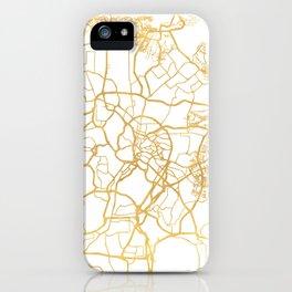 KUALA LUMPUR MALAYSIA CITY STREET MAP ART iPhone Case