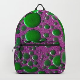 The world of bubbles - pink and green Backpack