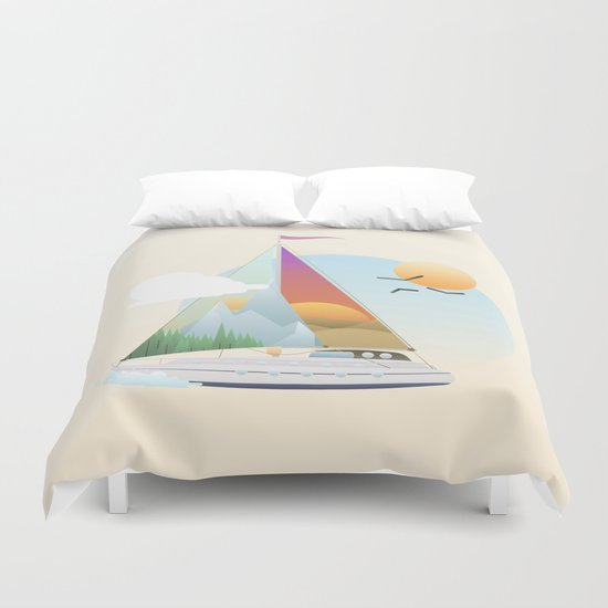 Seaside Vacation Duvet Cover