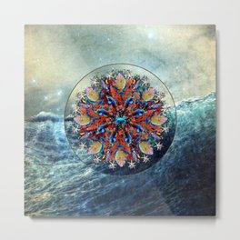 Ocean Jewels Triggerfish Coral And Starfish Metal Print