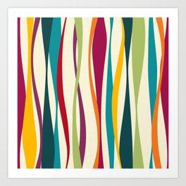 Colorful Bohemian Waves Light Art Print