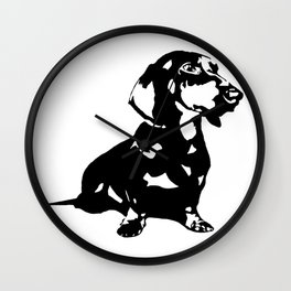 "DACHSHUND ""DOXIE""  DOG Wall Clock"