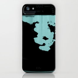 Contrasting dark and light  water droplets iPhone Case