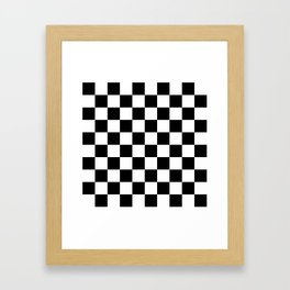 Black & White Checker Checkerboard Checkers Framed Art Print