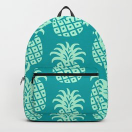 Retro Mid Century Modern Pineapple Pattern Mint Green and Teal 2 Backpack
