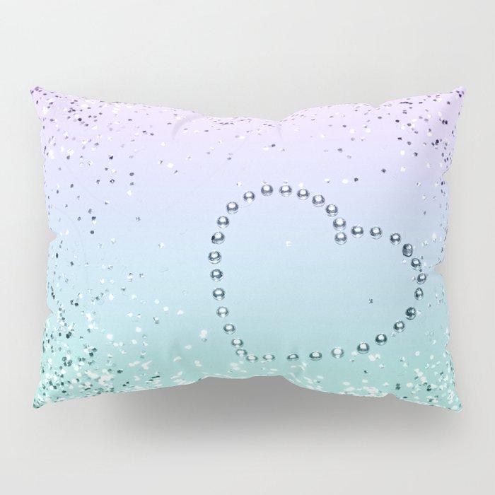 Sparkling MERMAID Girls Glitter Heart #1 #decor #art #society6 Pillow Sham