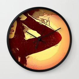Mourning Sun Wall Clock
