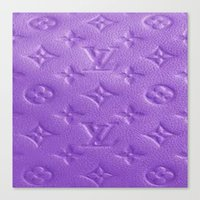 lv Canvas Prints featuring Purple LV  by Luxe Glam Decor
