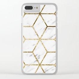Gatsby golden marble Clear iPhone Case