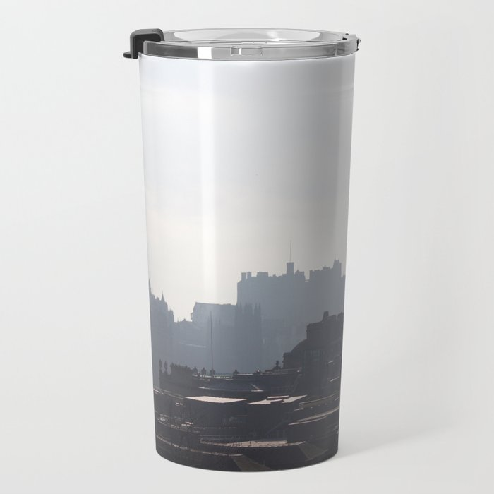 View of Princes Street from Calton Hill 1 Travel Mug