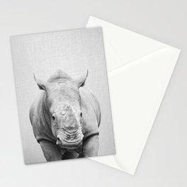 Rhino 2 - Black & White Stationery Cards