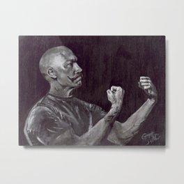 Original Art, Mustache, THE HANDSOME BOXER Metal Print