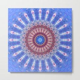 Star Shield Mandala Metal Print
