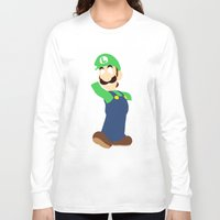 luigi Long Sleeve T-shirts featuring Luigi by Valiant