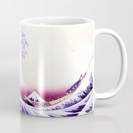 The Great wave purple fuchsia Coffee Mug