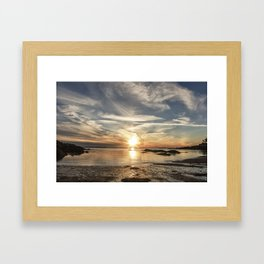 Plumcove Sun pillar Framed Art Print