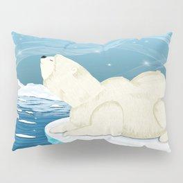Polar bears,Glaciers,Northern Lights,Cold,Snow Pillow Sham