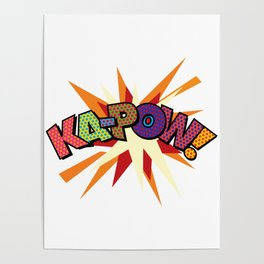 Comic Book Pop Art Sans KA-POW Poster