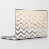 silver Laptop & iPad Skins featuring GOLD & SILVER  by Monika Strigel