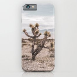 Vintage Desert Hombre // Cactus Cowboy Mojave Landscape Photograph Sunshine Hippie Mountain Decor iPhone Case