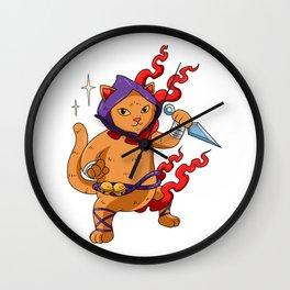 Cat Ninja Birthday Gift Ninjutsu Wall Clock