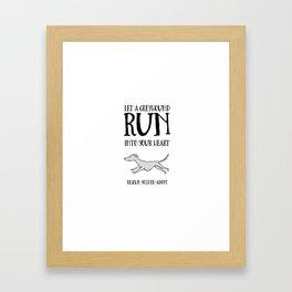 Adopt A Greyhound Framed Art Print