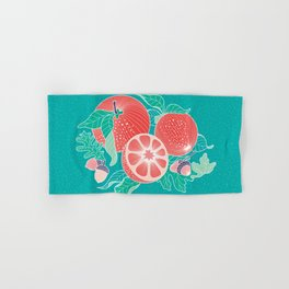 Oranges and Acorns with leaves Hand & Bath Towel