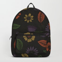 Fall Floral Pattern (MIDNIGHT) Backpack