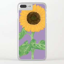 Sunflower #5 Clear iPhone Case