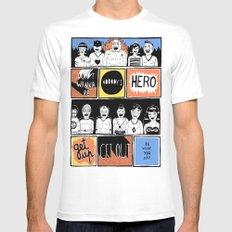 Superheroes SF Mens Fitted Tee White MEDIUM