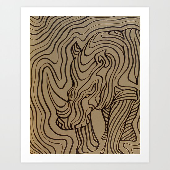 I see... a rhinoceros Art Print