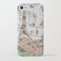 paris map iPhone & iPod Cases featuring Paris Map by Paula Belle Flores