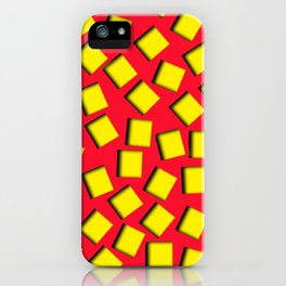 yellow square holes iPhone Case