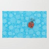 ladybug Area & Throw Rugs featuring Ladybug by JoonMoon